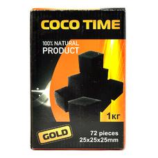 Уголь Coco Time (96 куб.) 1кг. кокосовый